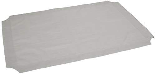 AmazonBasics Elevated Cooling Pet Bed Replacement Cover - Medium, Grey