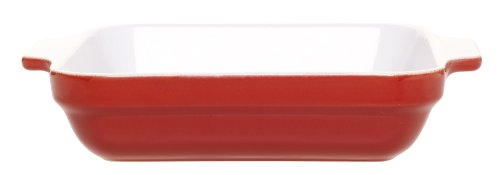 Emile Henry Square Baking Dish, Cerise Red