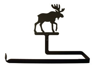 Village Wrought Iron 12 Inch Moose Paper Towel Holder Wal...