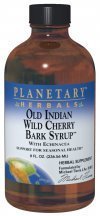Wild Cherry Syrup - Planetary Herbals Old Indian Wild Cherry Bark Syrup With Echinacea - Natural - 4 oz