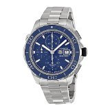 Tag Heuer Aquaracer Chronograph Blue Dial Stainless Steel Mens Watch CAK2112BA0833