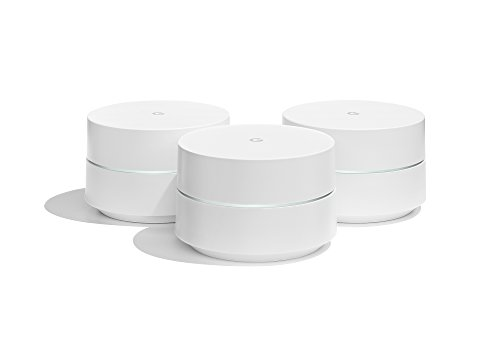 Google WiFi system, 3-Pack - Router replacement for whole home coverage (NLS-1304-25) (Best Home Wifi Booster)