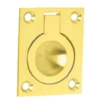 Ives Flush Drawer Pull - Solid Brass