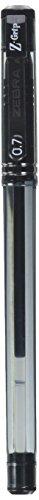 Zebra Z-Grip Stick Gel Pen, 0.7mm, Black, 12 Pack (42510)