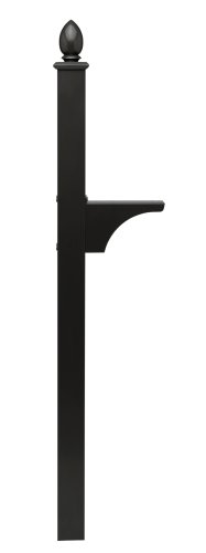 Architectural Mailboxes Decorative Side Mount Post Black