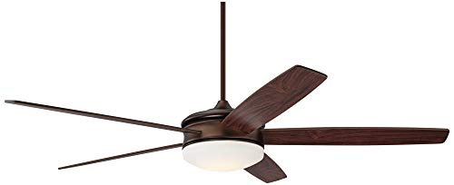 70 Coastline Modern Ceiling Fan with Light LED Dimmable Remote Control Oil Brushed Bronze for Living Room Kitchen Bedroom – Casa Vieja