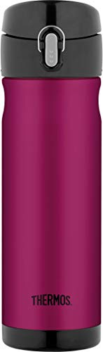 Thermos 16 Ounce Stainless Steel Commuter Bottle, Raspberry (Renewed)