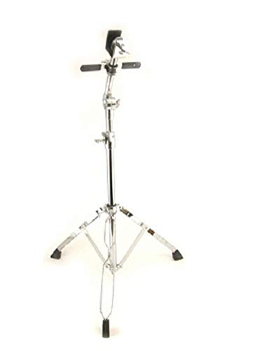 Double Braced Bongo Stand Adjustable, Chrome, Stabilizer Bar, Pivoting - 4' Foot