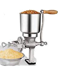 (Hand Operated Corn Grain Mill Grinder Useful Kitchen Tool with Big Hopper – Adjustable for Corn, Coffee. Food, Wheat, Oats, Nut, Herbs, Spices, Seeds Grinder – Great for Restaurants, Commercial Kitchens, Bakery, Home Cook)