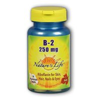 Vitamin B-2, 250 mg, 50 tabs by Nature's Life (Pack of 2) ()