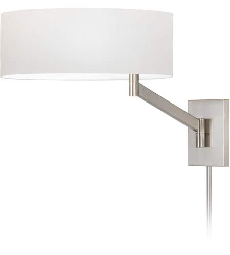 Sonneman 7080-13 One Light Swing Arm Wall Lamp from The Perch Collection, Satin Nickel
