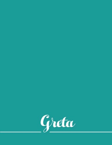 Greta: 110 Pages 8.5x11 Inches Sea Pastel Design Journal with Lettering Name, Journal Composition Notebook for Girl pdf