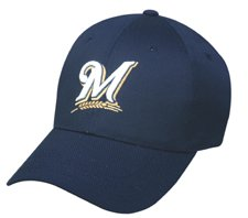 MLB YOUTH Milwaukee BREWERS Home Navy Blue Hat Cap Adjustable Velcro TWILL