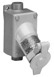 Killark UGP-20231 Plug, Hazardous Area, Copper-Free Aluminum, 125V, 20 Amp, 2 Pole, 3 Wire, 60 Hz, 3/4