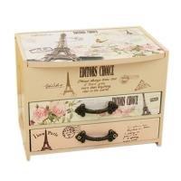 r Unique Wooden Jewelry Box Case Trinket Box Multipurpose Storage Boxes Drawer Storage Cabinet ()