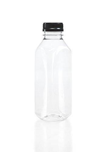 (8) 16 oz. Clear Food Grade Plastic Juice Bottles