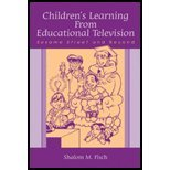 Children's Learning From Educational Television (04) by Fisch, Shalom M [Paperback (2004)]