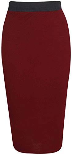 Taille Unique Bordeaux RIDDLED STYLE Femme WITH Jupe Uni Noir xx1wYq0O