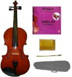 Crystalcello MV100 Full Size 4/4 Violin with Case + Bow + Accessories - Natural Color