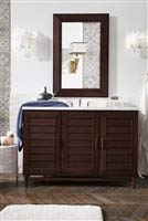 Modern Single Vanity in Burnished Mahogany