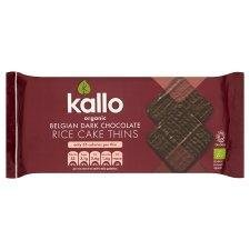 - Kallo Dark Chocolate Rice Cake Thins 90g