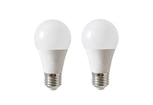 SECEIEL -Bombilla LED esférica E27, potencia y 640Lm, blanco cálido, no regulable