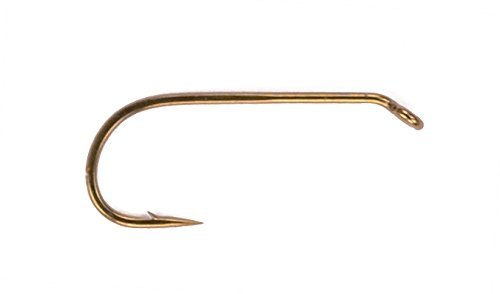Mustad Signature Fly Round Bend Dry Fly Hook with 2 Extra Fine Wire/Standard Length Turned Down Eye (Pack of 50), Bronze, Size 14 Signature Hooks Hook