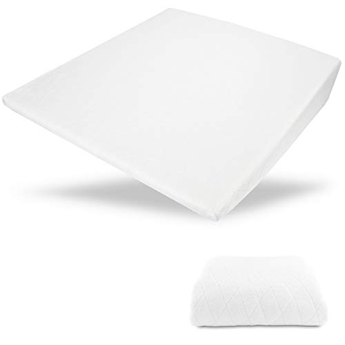 Acid Reflux Wedge Pillow - USA Made with Memory Foam Overlay and Removable Microfiber Cover'BIG' by Medslant. (31x28x7) Recommended size for GERD and other sleep issues.