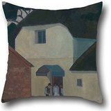 18 X 18 Inches / 45 By 45 Cm Oil Painting Robert Polhill Bevan - The Caller At The Mill Throw Pillow Covers ,twin Sides Ornament And Gift To Family,father,floor,christmas,couch,teens Boys