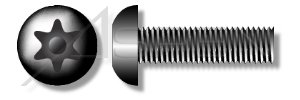 (1000pcs) #6-32 X 1/2 Security Machine Screws Button Head Torx Pin Alloy Steel Plain Ships FREE in USA by Aspen Fasteners , AFTPR-81010-M from ASPEN FASTENERS