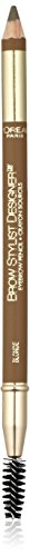 L'Oréal Paris Brow Stylist Designer Brow Pencil, Blonde, 0.045 oz. (Packaging May Vary)
