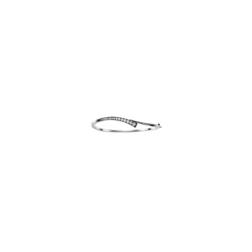 14k White Gold Journey Diamond Bracelet 3/4ct