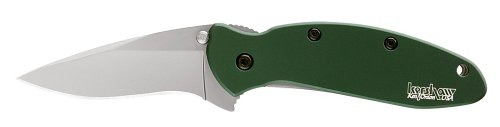 Kershaw Ken Onion Green Scallion Folding Pocket Knife with Speed Safe, Outdoor Stuffs