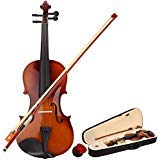 wuddi Acoustic Violin Fiddle 4/4 Full Size with Bow Case Rosin for Beginner Adult Boys Girls Children (Brown)