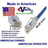 Blue Made in USA Ethernet Network Patch Cable UL 24Awg Pure Copper USA-0670-120 Ft UTP Cat5e SuperEcable
