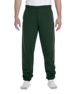 College Pant - Jerzees Men's Super Sweatpants with Pocket (Forest Green/X-Large)