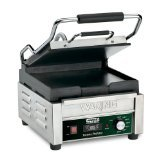 Waring Commercial WFG150T Flat Panini Grill with Timer, 120-volt