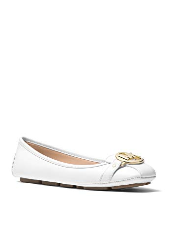 Michael Kors Women's Fulton Moccasin, Optic White, 10M US
