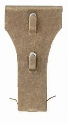Aunt Chris' Products - Package Of 2 - Super-Hold ~ Strong All-Purpose Brick Hook - Clip-On (Antique Brass Finish - The One That Works - Made in America)
