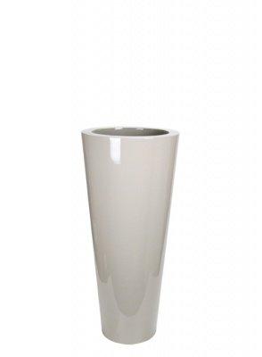 Le Present J19570.051 S Greige Fiber Pot Cone44; 27.6 x 13.7 in. by Le Present