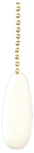 Craftmade FP-WHTD White Teardrop Fan Pull Chain (Fan Teardrop Pull)