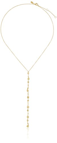 Argento Vivo Gold Long Multi-Disk Square Drop Y-Shaped Necklace, 16