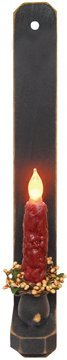 Wood Taper Candle Wall Sconce Country Primitive Décor