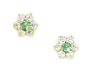 254ab4253 Image Unavailable. Image not available for. Color: 14k Yellow Gold March Lt-Blue  CZ ...