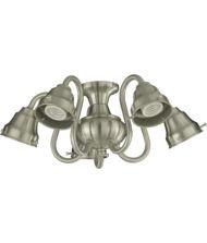 Quorum International 2530 Five Light Fan Light Kit, Satin Nickel