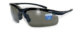 Apex Bifocal Safety Glasses UV400 Magnifying Reading Eyewear 1.50 Magnifier Smoke - Lenses Polarised