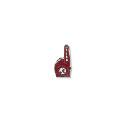 - NCAA Alabama Crimson Tide #1 Fan Pin