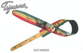 Bob Marley Correa para guitarra, correa para bajo, tamaño ajustable, cinturón reciclado de cuero ecológico, unisex