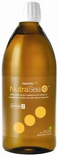 Nutra Sea Fish Oil plus D -Green Apple Flavour (500ml=16oz) (Herring Fish oil for Omega 3s) NutraSea by Ascenta Brand: Ascenta Health by Ascenta Health