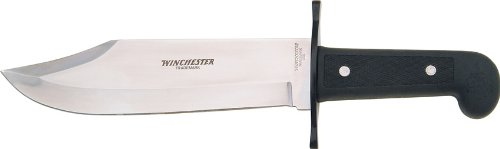 Winchester Knives Bowie Knife 9 1/2in Blade w/ Embroidered Heavy Duty Nylon S...